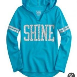 💜Justice Shine Hooded Sweatshirt